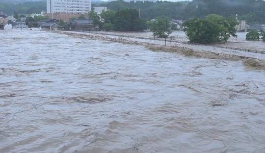 球磨川氾濫場所の地図はどこ?